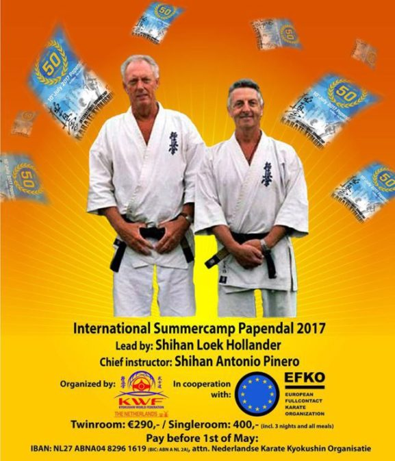 Kyokushin Karate 50e Nederlandse Internationaal Zomerkamp