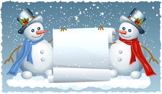 Snowman Vector Cards