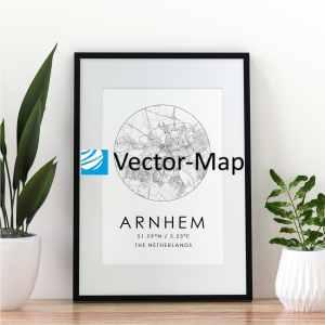 kaart poster Arnhem