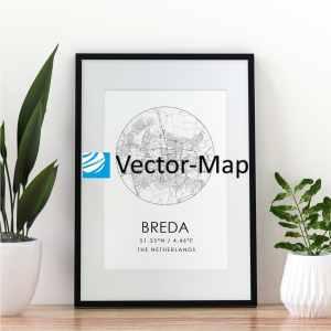 kaart poster Breda