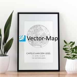 kaart poster Capelle aan den IJssel