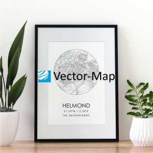 kaart poster Helmond