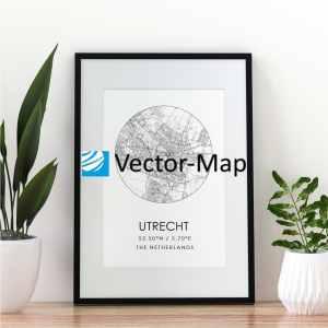 kaart poster Utrecht
