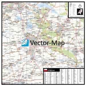 Plaatsnamen provinciekaart Utrecht