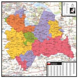 Kaart Utrecht met postcodes