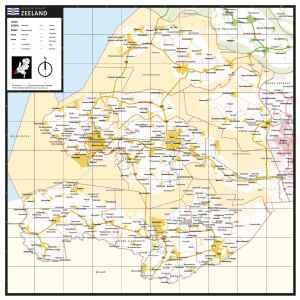 Gekleurde gemeentekaart Zeeland