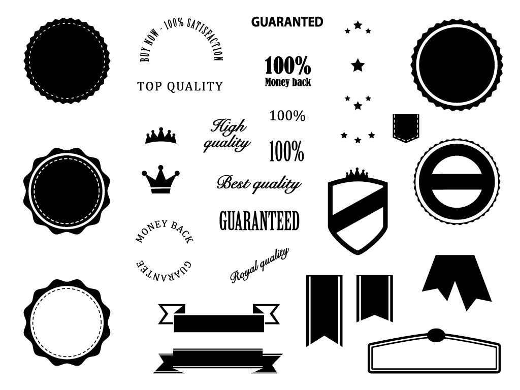 Free Download Badges Elements
