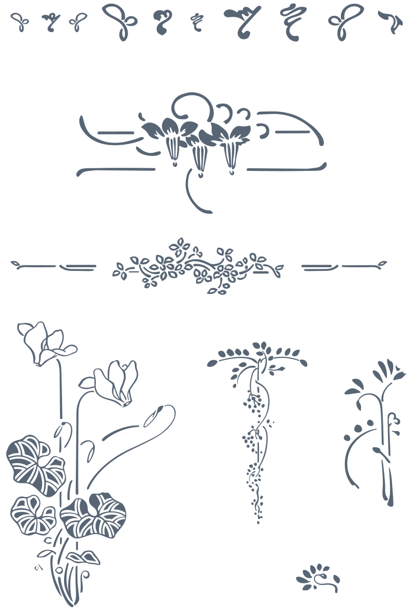 Preview All The Organically Inspired Art Nouveau Vector Ornaments Traced By Hand From Best Historical Sources