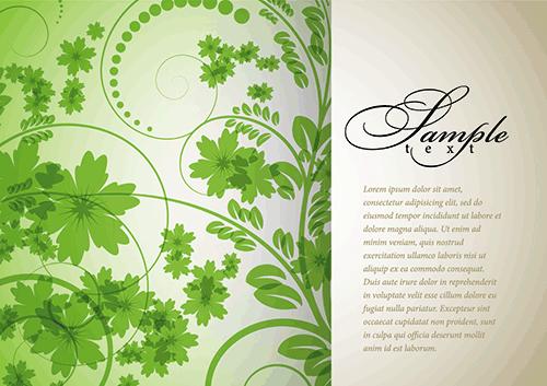 Floral verde fondo decorado