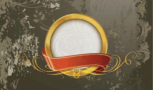 Fondo abstracto con círculo y cinta en el centro