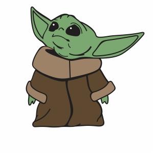 Alien Baby Yoda SVG | Baby Yoda svg cut file Download ...