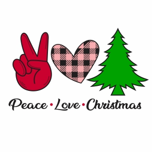 Download Peace Love Christmas SVG   Peace Love Svg   Svg Dxf Eps ...