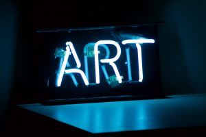 """ART"" written in neon lights"