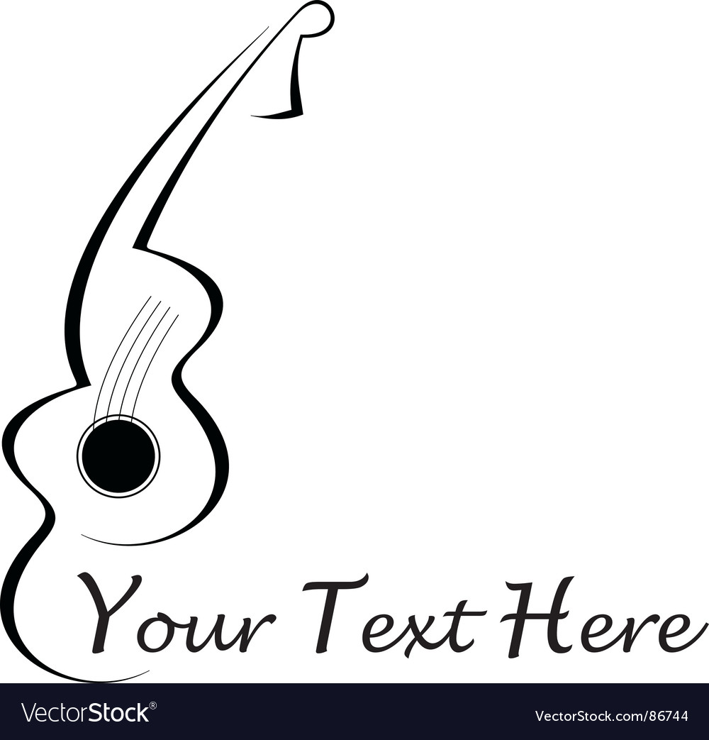 Guitar Tattoo Vector. Artist: jazzia; File type: Vector EPS