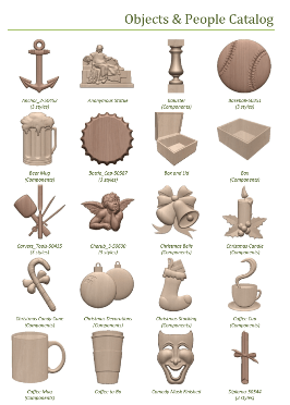 Vectric Free 3D Clipart