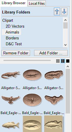 Vectric Clipart Browser