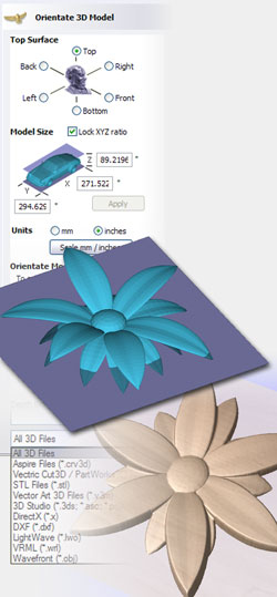 Vectric VCarve Desktop Import 3D Models