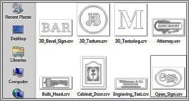 Vectric VCarve Desktop Thumbnails