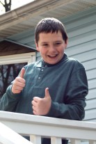 Zach Giving Thumbs Up