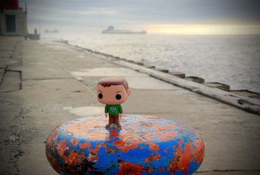 Sheldon watches the freighters
