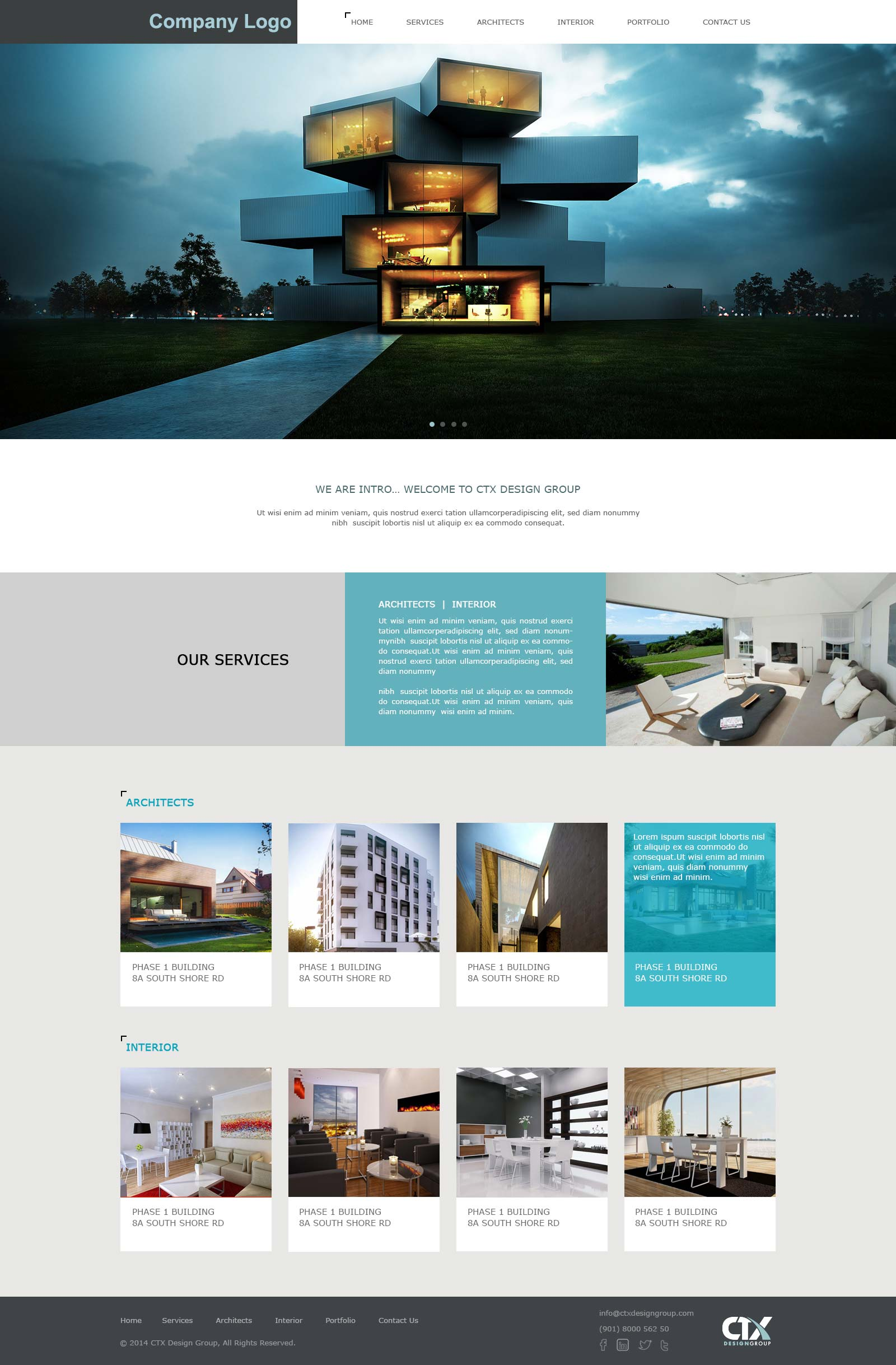 Architecture & Interior Designing Website Template