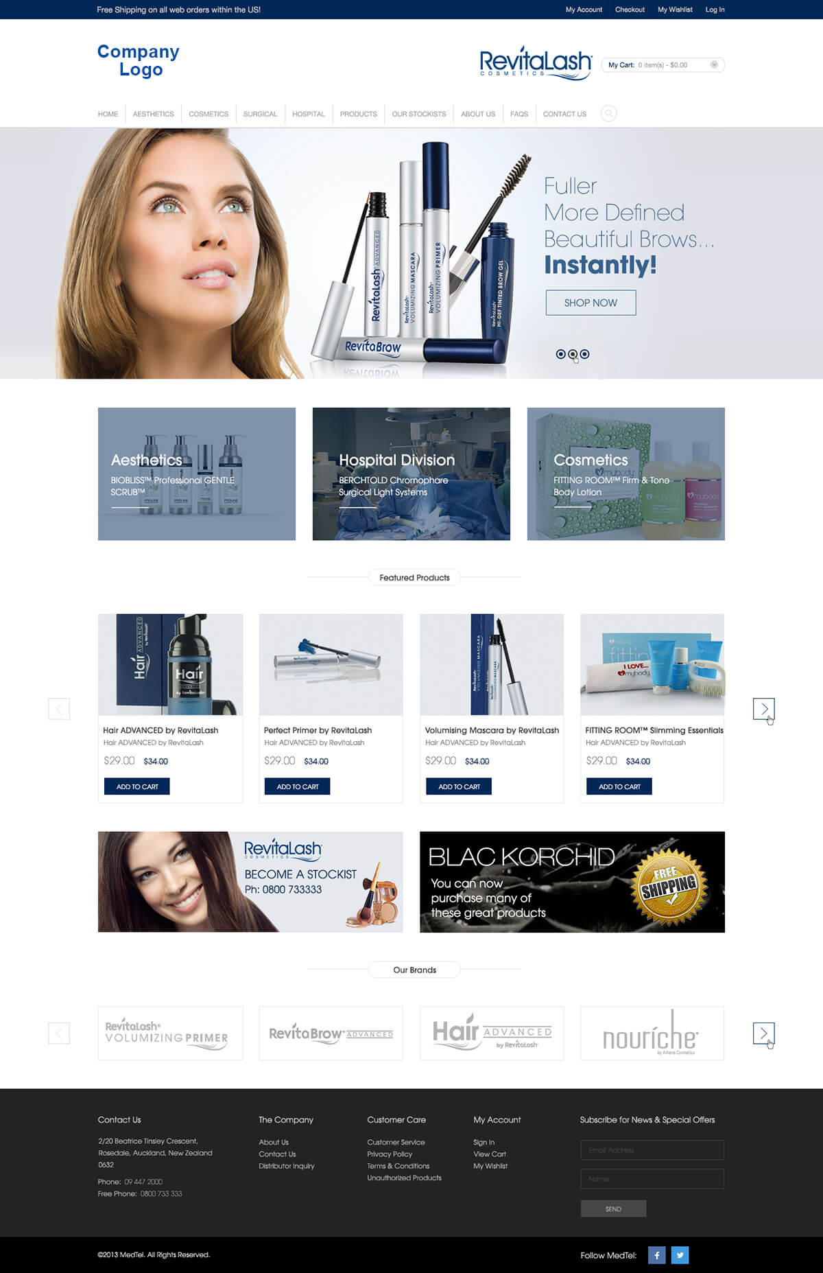 Cosmetics and beauty website templates ved web services for Cosmetology portfolio template