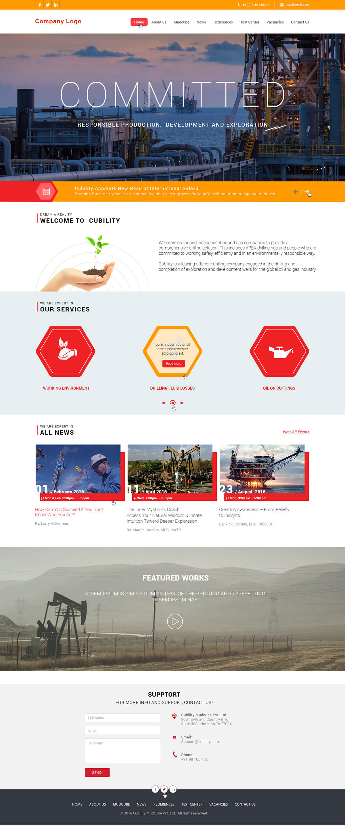 Industrial Website Templates