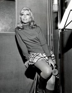 Nancy Sinatra seen wearing a mini skirt