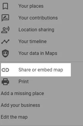 embed google map on website