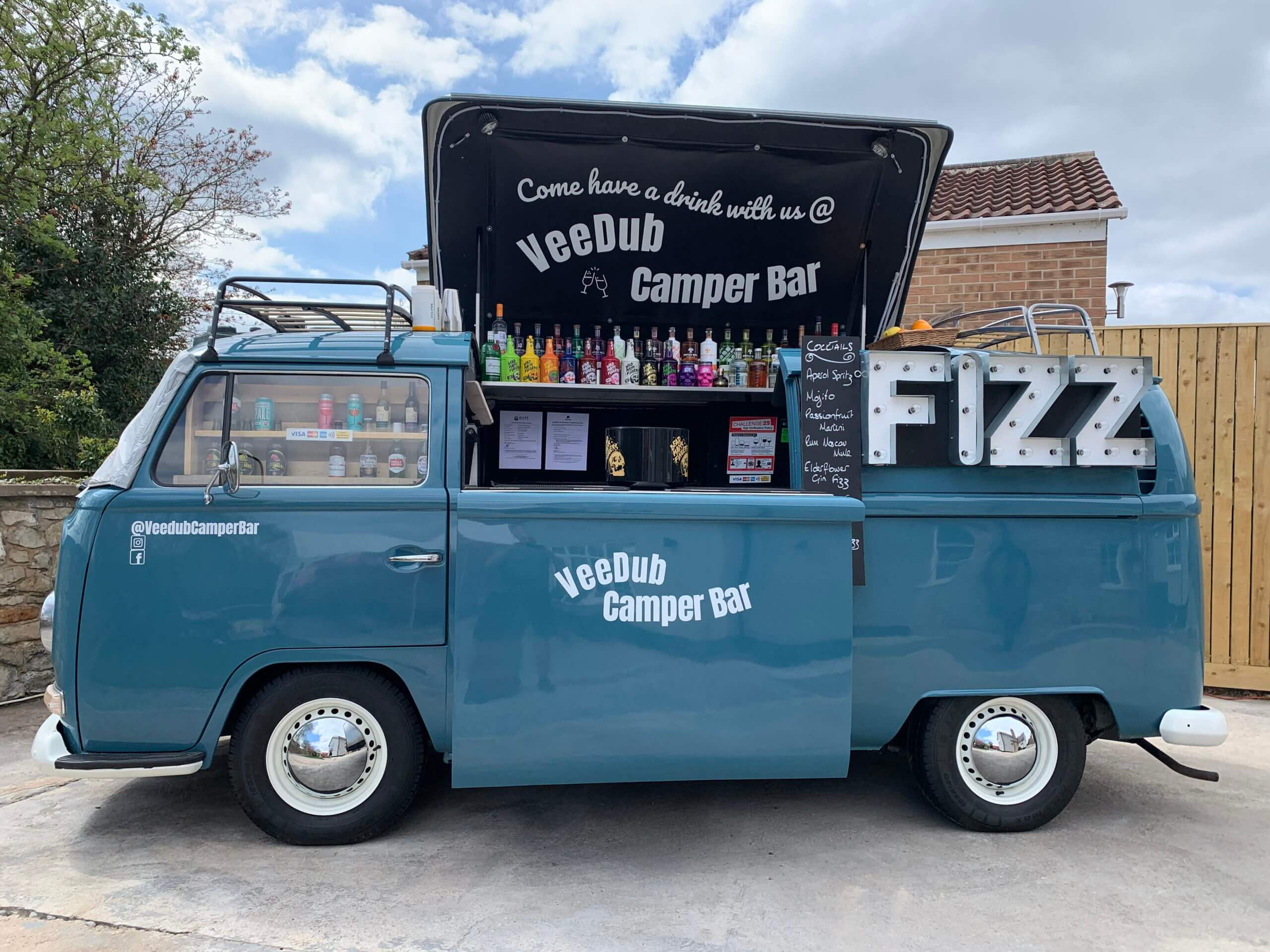 mobile bar converted vehicle