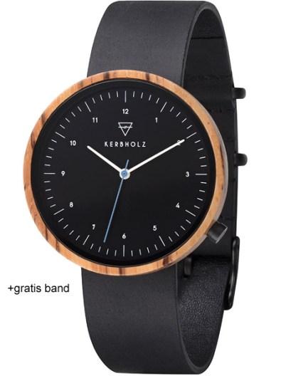 kerbholz-heinrich-black-zebrano-midnight-black-horloge-4251240407548-zwart-leren-band-houten-wijzerplaat