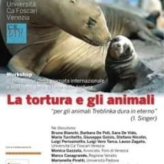 La tortura e gli animali: workshop 25 giugno a Venezia