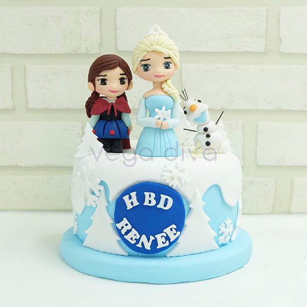เค้กวันเกิด เค้ก3มิติ Forzen for Renee