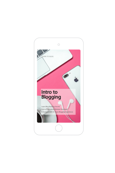 Start a blog with tools and skills to help you build a successful blog. Enroll on my Intro to Blogging e-course to start learning today! #howtoblog #blogging #blogger