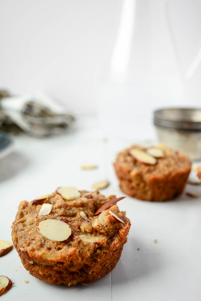This recipe for the Ultimate Vegan Apple Cinnamon Muffins is one you're going to love! They're moist, bursting with autumn spices and juicy apple flavor. Pin it now and make them later! #veganrecipes #veganfood #recipeideas #muffinrecipes
