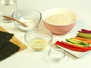 Ingredientes para hacer Sushi Vegano