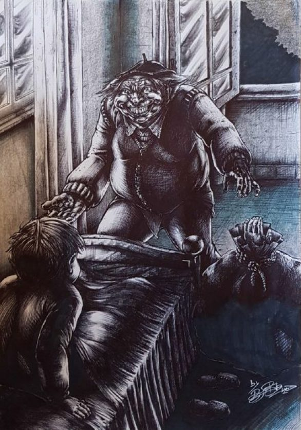 L'Home l'Sacu (Dibujo de Roberto Suárez)