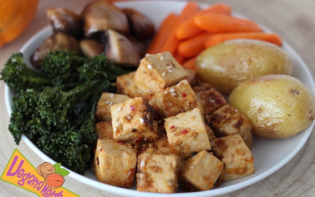 Tofu Marinado a la Naranja