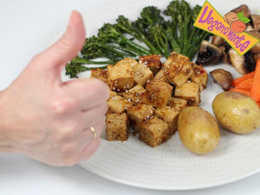 Tofu A La Naranja con Verduras