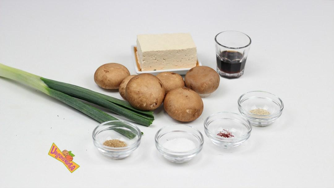 Ingredientes del Paté de Champiñones al Oporto