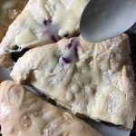Lemon Blueberry Scones With Lemon Glaze Drizzle