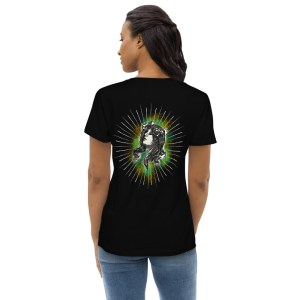 Black Back - Pow – Women's Fitted Organic Tee