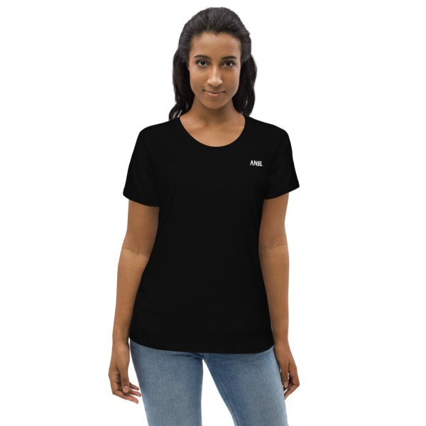 Black Front - Pow - Organic Fitted Tee
