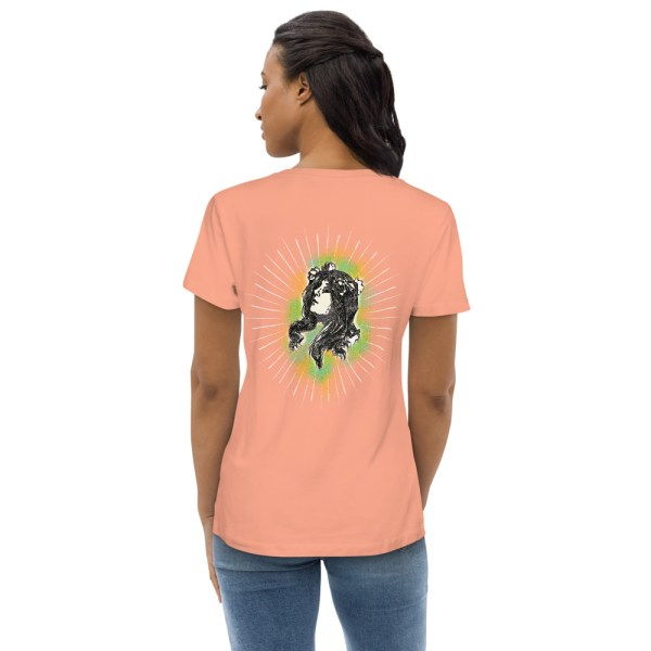 Rose Clay Back - Pow – Women's Fitted Organic Tee