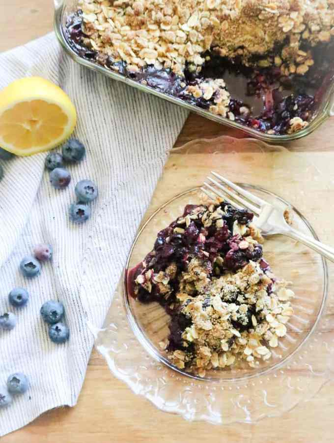 Quick and Tasty Blueberry Crisp
