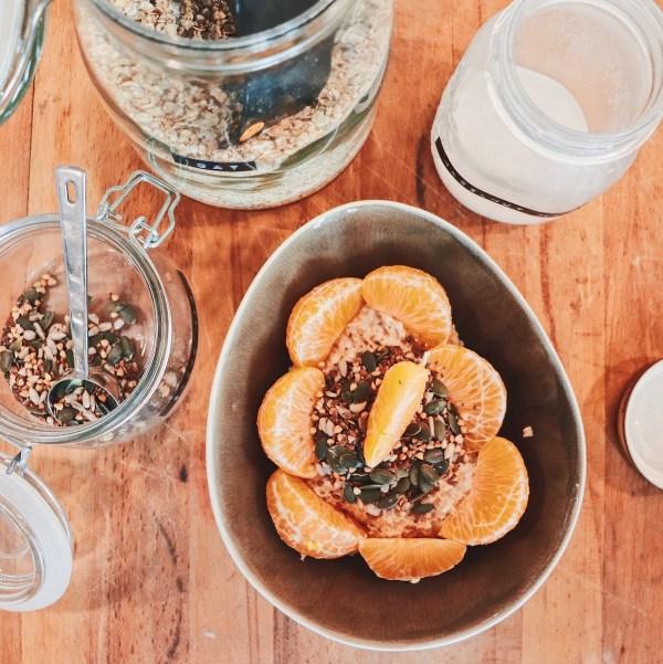 Porridge d'hiver - cannelle et clémentine - la recette