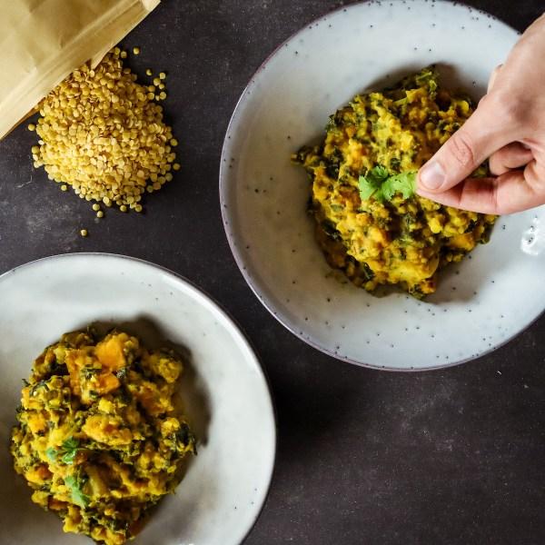 Colombo de lentilles et légumes