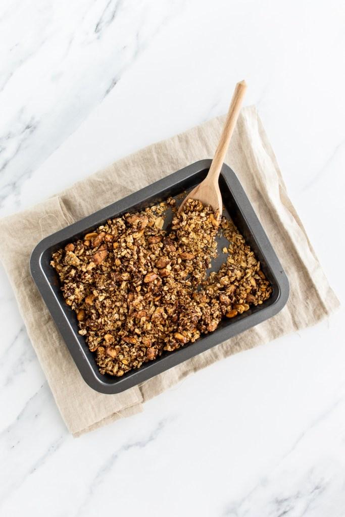 DIY - Granola au chocolat sans gluten, sans sucres ajoutés et sans huile -