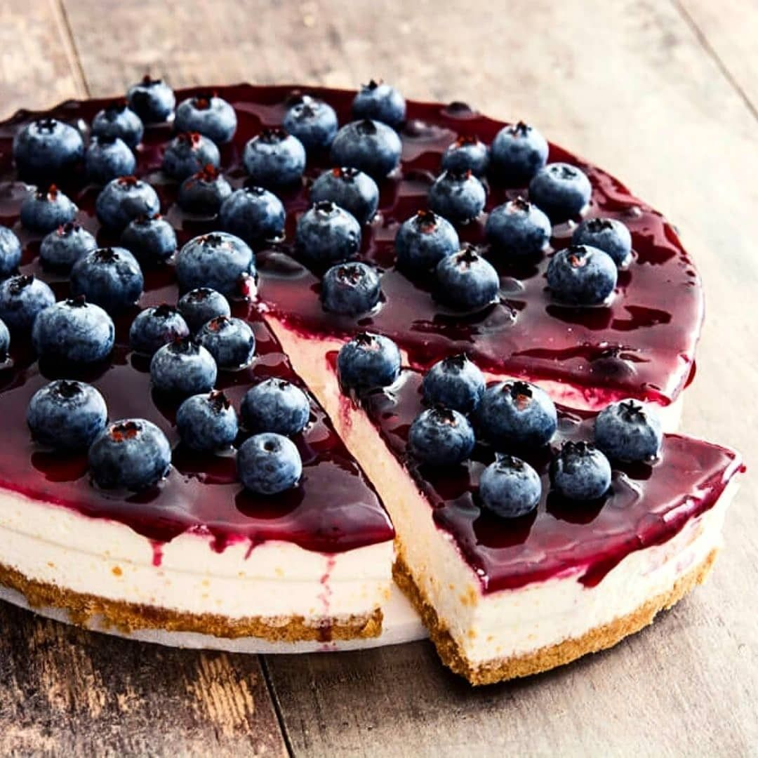 this blueberry cheesecake is gluten free refined sugar display image  0538013b