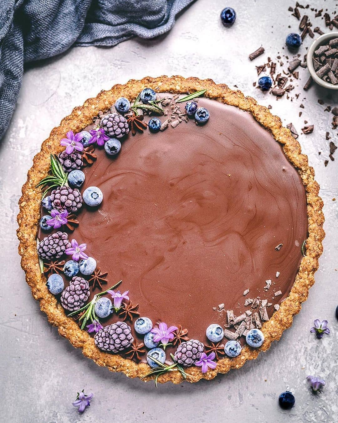 gluten free blueberry and chocolate tart by sculptedkitchen display image  c948eb1e